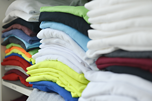 Colour T-shirts in Stock for Next Day Printing